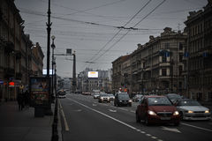 Nevskiy prospekt at Saint Petersburg, Russia Royalty Free Stock Photo