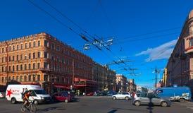 Nevsky潜在客户在圣彼德堡 免版税图库摄影