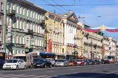 nevsky святой России перспективности petersburg стоковая фотография rf