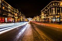 Nevsky aleja Fotografia Royalty Free