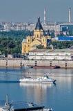nevsky alexander domkyrka Nizhny Novgorod Royaltyfri Foto