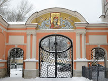 nevsky alexander lavra Arkivbilder