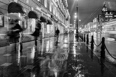 Nevsky-Allee, St Petersburg, Russland Lizenzfreie Stockbilder