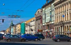 Nevsky Aussicht in St Petersburg Lizenzfreie Stockfotografie
