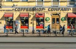 Nevsky Prospect Ave in St, Petersburg Royalty Free Stock Image