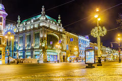 Free Nevsky Prospect Illuminated For Christmas, Saint-Petersburg Royalty Free Stock Image - 65714746