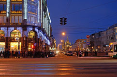 Nevsky Prospect in Petersburg, Russia Stock Images