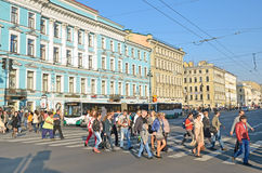 Nevsky prospect in Saint-Peterburg, Russia Stock Image