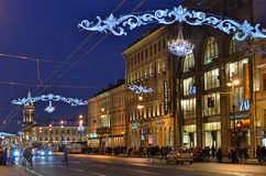 Nevsky prospect in Saint Petersburg, Russia Stock Images
