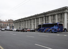 Nevsky Prospect. SAINT-PETERSBURG, RUSSIA - June 12, 2015, Nevsky Prospect in St. Petersburg, Russia. One of the main streets of the city. in St. Petersburg Royalty Free Stock Image