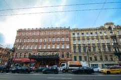 Nevsky Prospect in St. Petersburg, Russia Royalty Free Stock Image