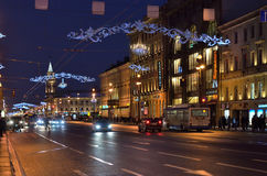Nevsky prospect in St Petersburg, Russia Stock Images