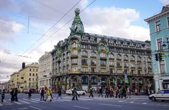 Nevsky Prospect in St. Petersburg, Russia Stock Image