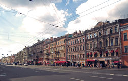Nevsky Prospect in the summer Stock Images