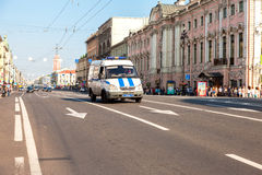 Nevsky Prospect in the summer sunny day. Now it is main street,. ST. PETERSBURG, RUSSIA - JULY 27, 2016: Nevsky Prospect in the summer sunny day. Now it is main Stock Photos