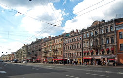 Nevsky Prospect in the summer sunny day Royalty Free Stock Image