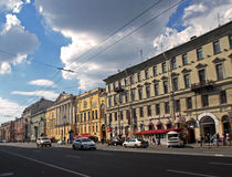 Nevsky Prospect in the summer sunny day Royalty Free Stock Images