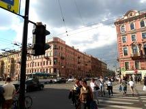 Nevsky Prospect in the summer sunny day Stock Image