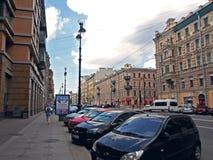 Nevsky Prospect in the summer sunny day Royalty Free Stock Photo