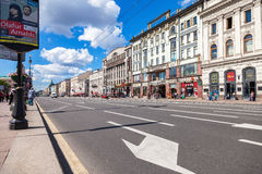 Nevsky Prospect in the summer sunny day. Saint-Petersburg, Russia Stock Photography