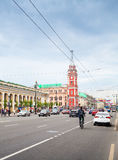 Nevsky prospect, vertical cityscape, Patarsburg Royalty Free Stock Photo