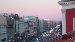 Nevsky Prospekt in the evening stock footage
