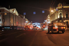 Nevsky Prospekt night Stock Photos