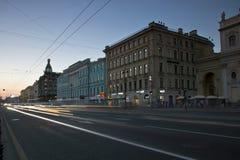 Nevsky Prospekt, St Petersburg, Rosja Zdjęcia Stock