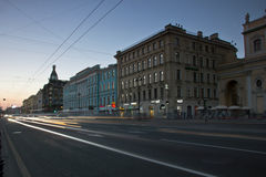 Nevsky Prospekt, St Petersburg, Russie Photos stock