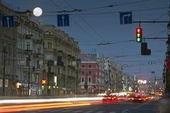 Nevsky Prospekt, St Petersburg, Ryssland Arkivfoton