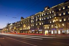 Nevsky Prospekt, St Petersburg, Ryssland Arkivfoto