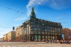 Nevsky utsikt i St Petersburg Royaltyfria Bilder