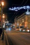 Nevsky utsikt i St Petersburg, Ryssland Royaltyfri Foto