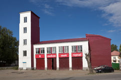NEVYANSK,俄罗斯- 2016年6月15日:了望塔照片  库存图片