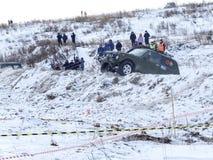 Nevyansk, Russie, le 23 février 2018, emballage tous terrains d'hiver photos libres de droits
