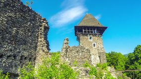 Nevytske Castle, semi-ruined castle near Uzhhorod, Ukraine. Nevytske Castle, semi-ruined castle in Zakarpattia Oblast, Ukraine. Located 12 kilometres north of stock video footage