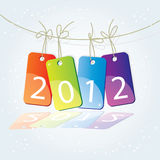 New 1012 year. Illustrated new 2012 year background Stock Photography