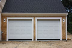 New 2 car garage. New 2 car attached garage Stock Image