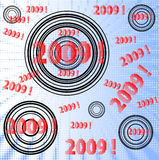 New 2009. Circles and halftone new 2009 year vector illustration