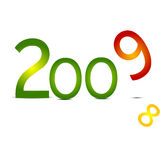 New 2009 year. Sign isolated on the white stock illustration