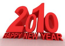 New 2010 year numbers. Royalty Free Stock Photography