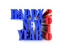 New 2010 year six. High resolution image new-year.  3d illustration over white backgrounds Stock Illustration