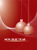 New 2010 year. Vector. Royalty Free Stock Images