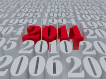 New 2011 year. Card. High resolution image.  3d rendered illustration Royalty Free Stock Photos