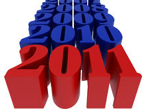 New 2011 year. Card. High resolution image.  3d rendered illustration Royalty Free Stock Photo