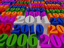 New 2011 year. Card. High resolution image.  3d rendered illustration Stock Photos