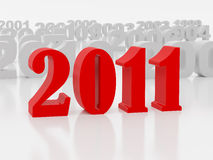 New 2011 year. Card. High resolution image.  3d rendered illustration Royalty Free Stock Image