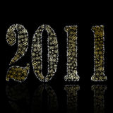 New 2011 year abstract backround Stock Image