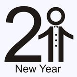 New 2011 year card. Creative 2011 New year card royalty free illustration