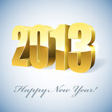 New 2011 year gold figures card. New 2013 year golden figures card Royalty Free Stock Photography